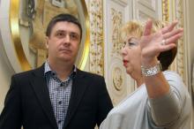 Вячеслав Кириленко и директор Литмузея Татьяна Липтуга