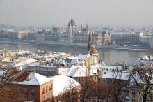 Фото: вид на Дунай и Венгерский Парламент