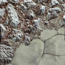 «Бесплодные земли» карликовой планеты. Фото: NASA / JHUAPL / SwRI