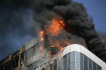 Пожар в «Гагарин Плаза». Фото Вячеслава Тенякова