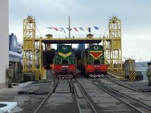 Начало рейса в Ильичевском порту. Фото Мининфраструктуры