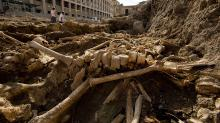Раскопки чумного захоронения в Марселе. Фото D. Gliksman, Inrap