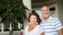 Оксана Давида и Майк Уилсон. Фото из семейного архива