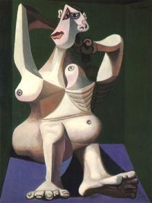 П. Пикассо «Женщина, расчесывающая волосы». Изображение с picassolive.ru
