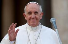 Папа Франциск. Фото с сайта newier.com.ua.