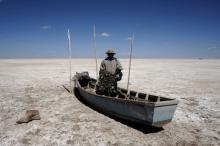 Озеро Поопо. Фото: David Mercado / Reuters