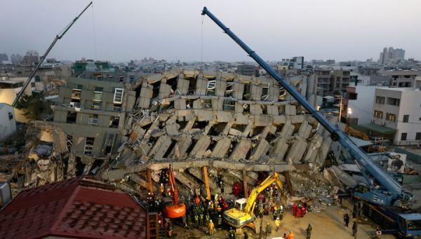 Число погибших землетрясения наТайване выросло до 55 человек