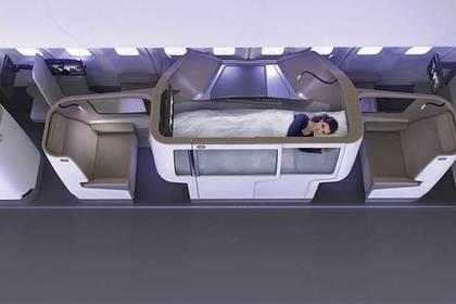 Для самолетов придумали аналог кроватей изплацкартных вагонов