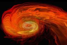 Производство гамма-всплесков нейтронной звездой (в представлении художника). Изображение: NASA / GSFC