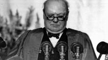 У. Черчилль произносит знаменитую Фултонскую речь. 5 марта 1946 г.