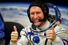 Тим Пик прибыл на МКС в декабре 2015 г.