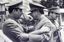 Серхио Арельяно Старк и Аугусто Пиночет, 1973 год