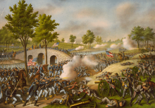 «Сражение при Энтитеме», литография 1888 г. Изображение Wikipedia