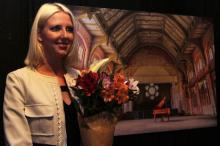 Катерина Кипер на открытии выставки
