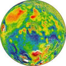 Карта Северного полушария. Изображение: MIT/UMBC-CRESST/GSFC