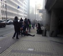 Взрыв в метро. Фото: @HalawaMark