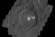 Кратер Оккатор.  Изображение: NASA/JPL-Caltech/UCLA/MPS/DLR/IDA/PSI