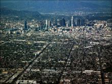 Вид на Лос-Анджелес с Голливудских холмов