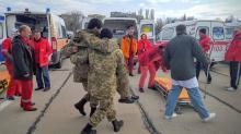 Встреча в Одессе санитарного борта. Фото с Fb-страницы А. Танцюры