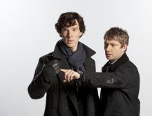 Бенедикт Камбербэтч и Мартин Фримен в сериале «Шерлок»