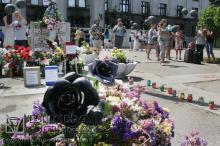 Траурная акция на Куликовом поле в августе 2014 г. Архивное фото В. Тенякова
