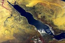 Красное море. Вид из космоса
