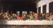 «Тайная Вечеря». Картина Леонардо да Винчи