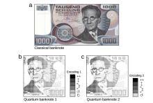 Классическая банкнота и ее отличающиеся квантовые аналоги