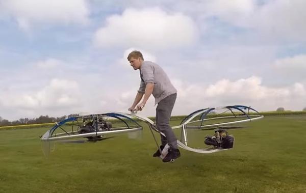 Изобретатель из Великобритании собрал вгараже «летающий велосипед»