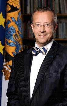 Президент Эстонии Тоомас Хендрик Ильвес. Фото с estonica.org