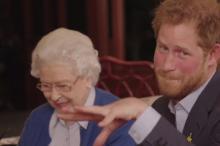 Елизавета II и принц Гарри Kensington Palace, Twitter