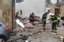 Место падения самолета. Фото: пожарная служба Наварры