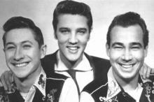 Скотти Мур, Элвис Пресли, Билл Блэк (слева направо). Фото: Wikipedia