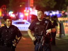 На месте происшествия. Даллас, 7 июля 2016 года. Getty Images. Фото: Р.Дженкинс
