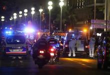 Полиция и спасатели на месте трагедии. Фото: Valery Hache / AFP / East News