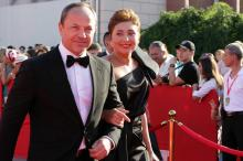 Президент ОМКФ Виктория Тигипко с мужем