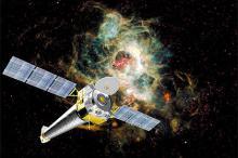 Обсерватория Chandra (в представлении художника). Изображение: GDK