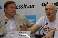 Глава правления Одесской киностудии Андрей Зверев  и режиссер Манук Депоян
