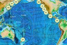 Изохроны Тихоокеанской плиты. Изображение: advances.sciencemag.org