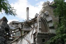 Обрушение Масонского дома. 20 июля 2016 г. Фото Вячеслава Тенякова