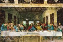 Репродукция картины Леонардо да Винчи «Тайная вечеря»