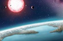 Землеподобная экзопланета (в представлении художника). Изображение: Chester Harman