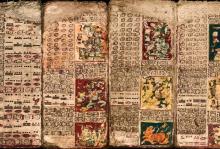Фрагмент Дрезденского кодекса с календарем Венеры. Фото: Gerardo Aldana