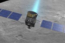 Станция Dawn над Церерой (в представлении художника). Изображение: NASA