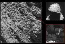 Зонд Philae на комете. Фото: ESA