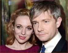 Аманда Аббингтон с мужем Мартином Фриманом