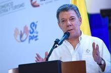 Хуан Мануэль Сантос. Фото: Colprensa / Xinhua / Zumapress / Globallookpress.com