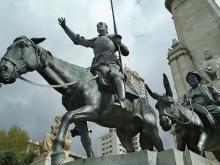 Дон Кихот и Санчо Панса, памятник в Мадриде. © СС0 Public Domain