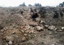 Остатки каменно-корпичной клвдки, фото из отчета специализированной археологической экспертизы