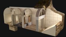 Трехмерная реконструкция внутреннего устройства гробницы в Амфиполисе